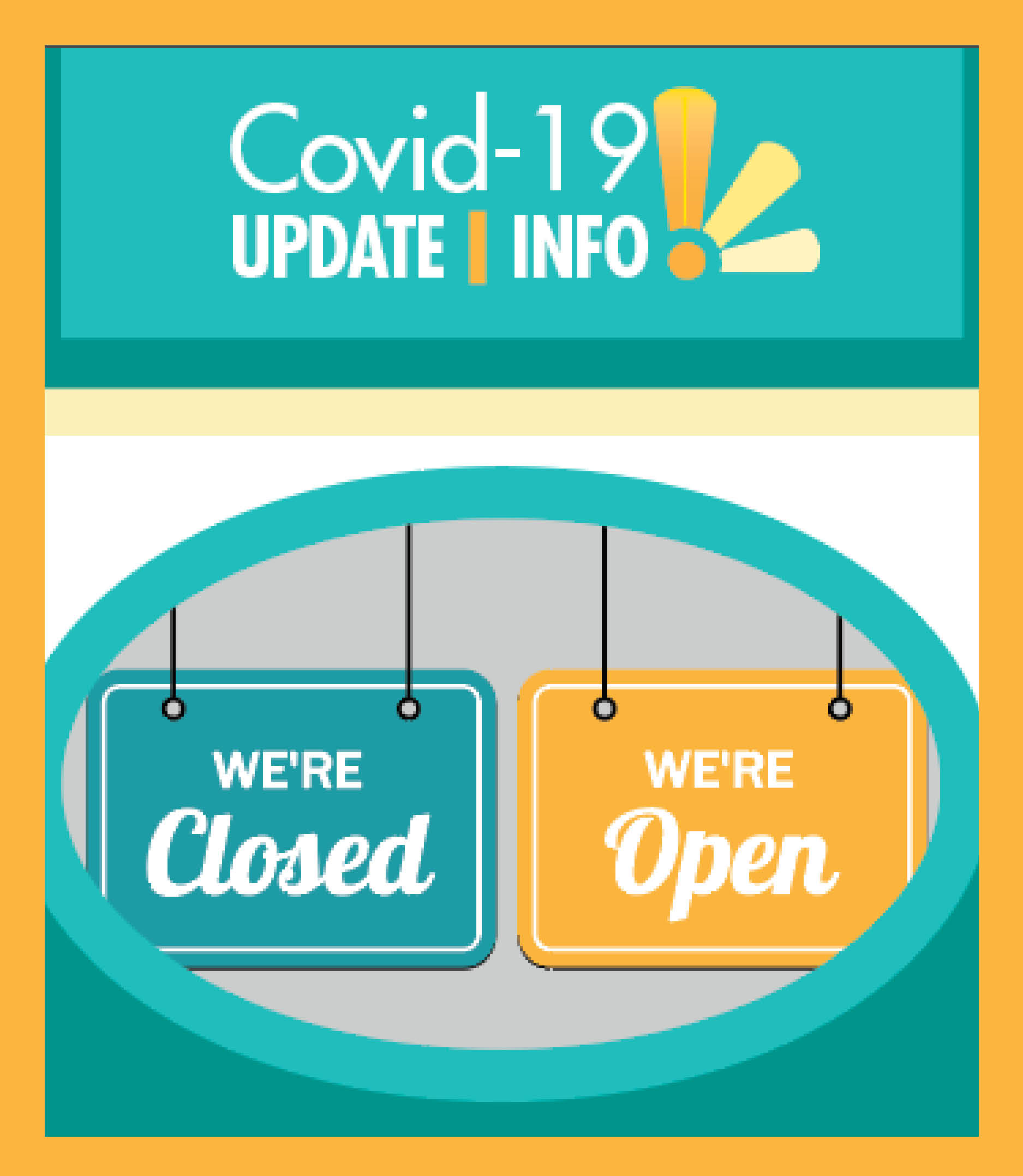 Covid-19 open closed spotlight image