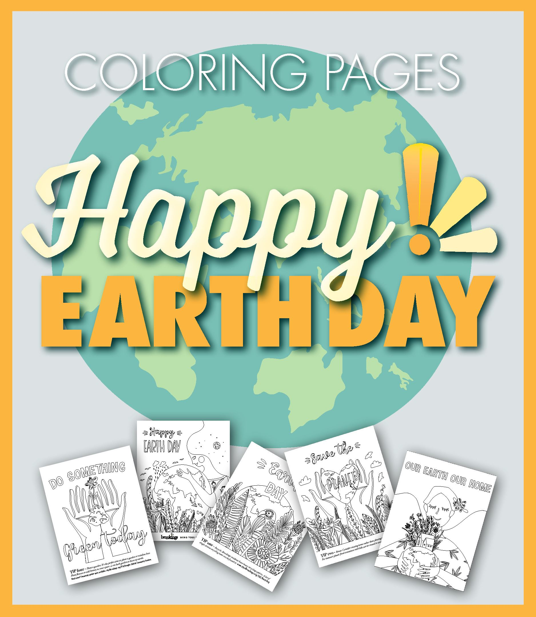 Newsflash Graphics 2020 - Earthday Coloring Pages