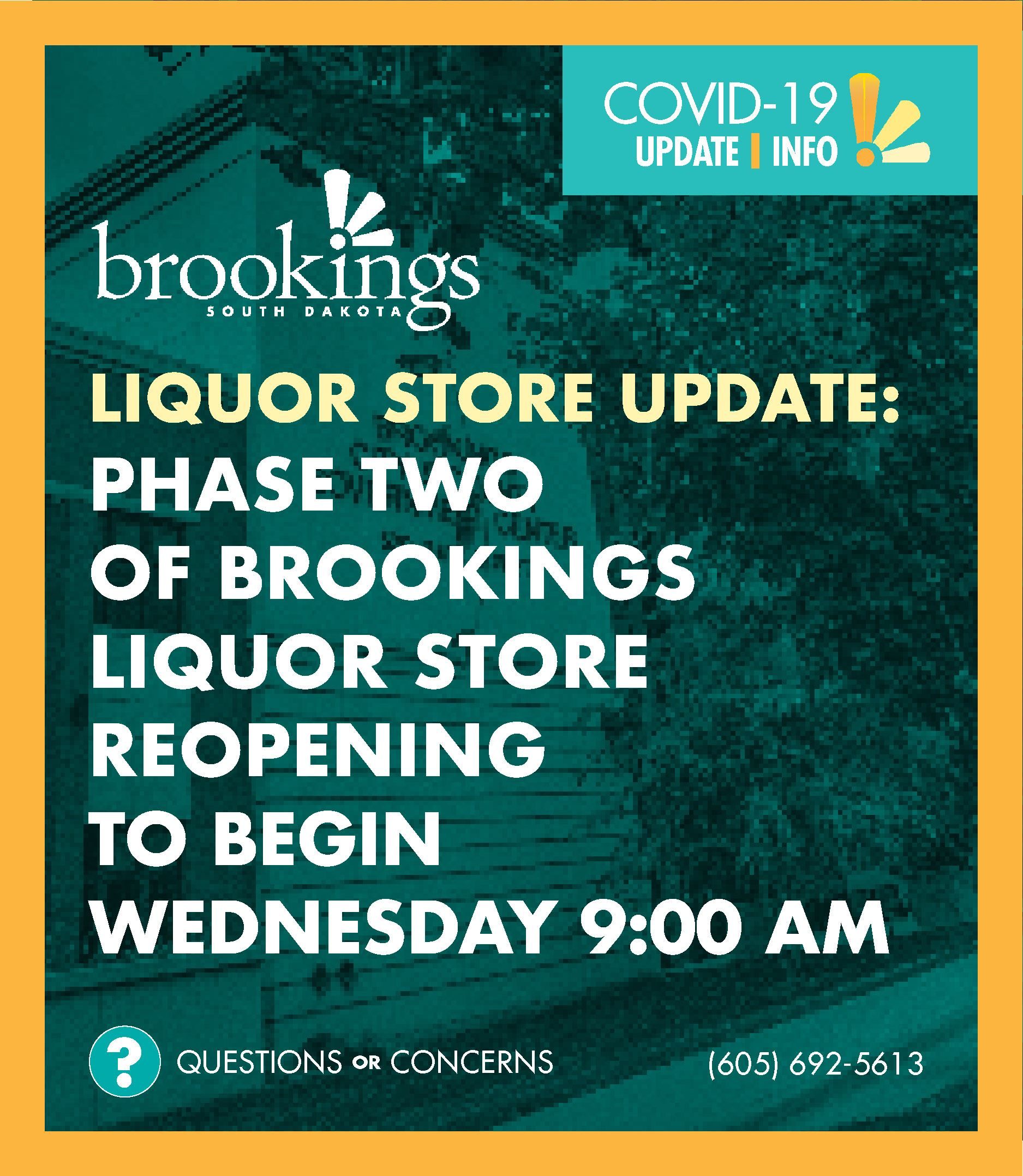 Newsflash Covid-19 2020 - Liquor Store Reopening