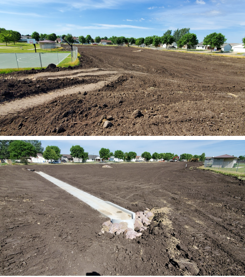 Moriarty Park Detention Pond Construction