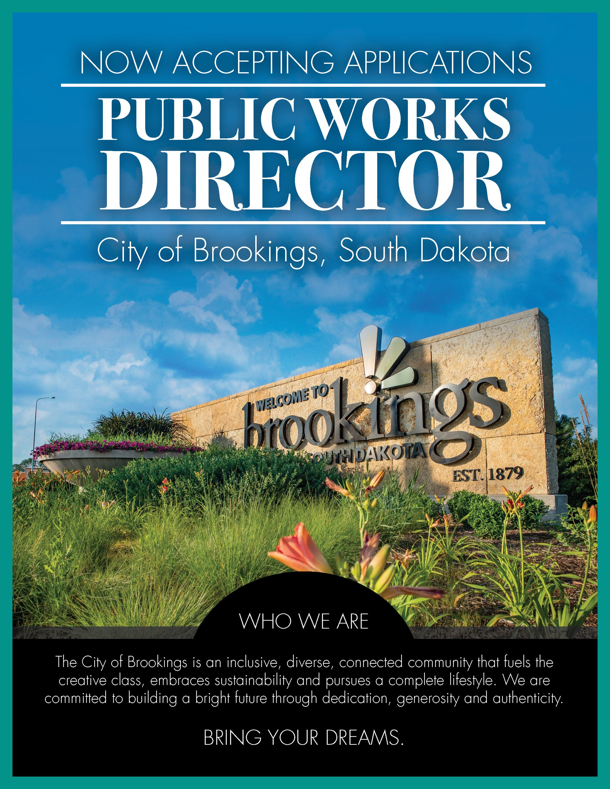 Job Posting Public Works Flyer page 1- PDF available for download in link on page Opens in new window