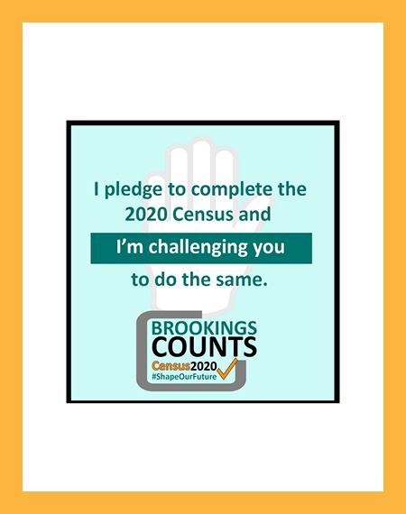 Brookings Counts I Pledge Social Media Graphic Icon Opens in new window