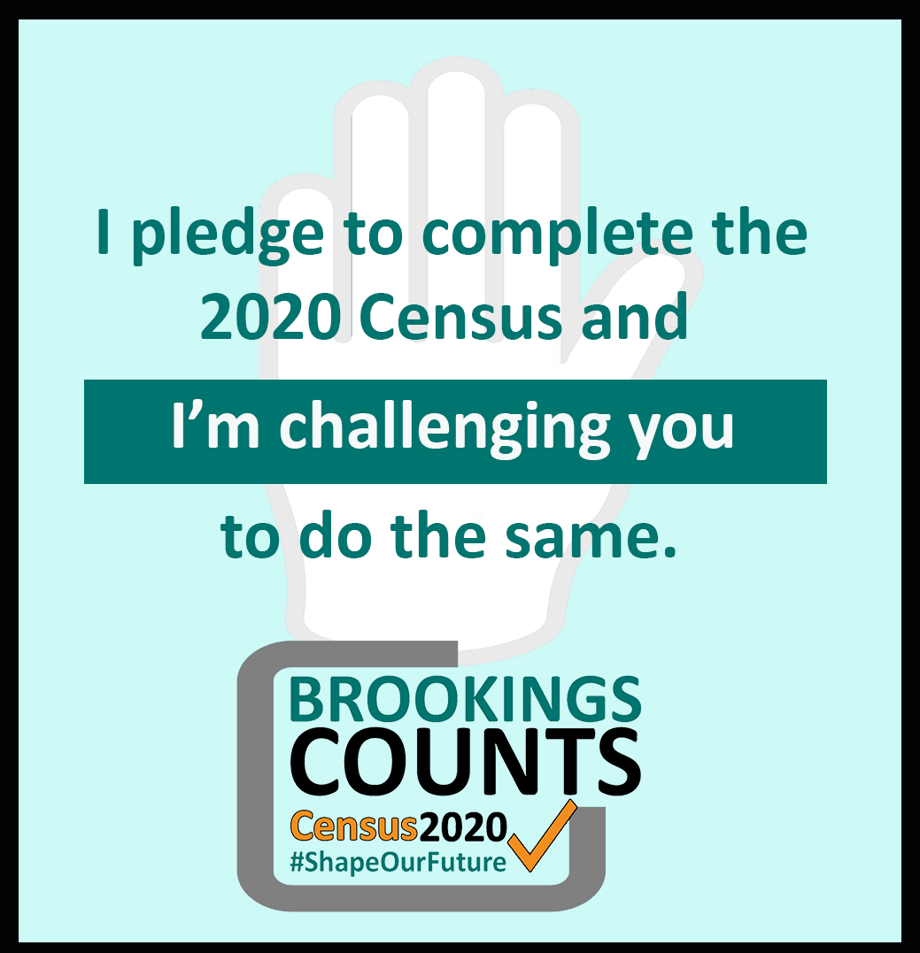 I pledge to take the 2020 Census Graphic