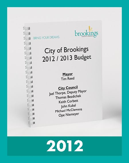Photo of 2012 Budget Book Opens in new window